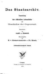 Das Staatsarchiv: Sammlung der offiziellen Aktenstücke zur Aussenpolitik der Gegenwart, Volumes28à29