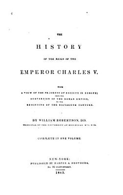 The History of the Reign of Emperor Charles V PDF