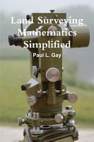 Land Surveying Mathematics Simplified PDF