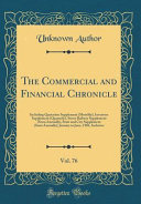 The Commercial and Financial Chronicle  Vol  76