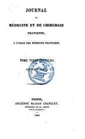 Journal de médecine et de chirurgie pratique: à l'usage des médecins praticiens, Volume27