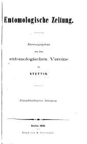 Stettiner entomologische Zeitung: Band 51