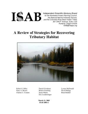 Review of Strategies for Recovering Tributary Habitat
