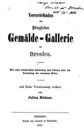Verzeich. d. kön. Gemaelde - Gallerie zu Dresden