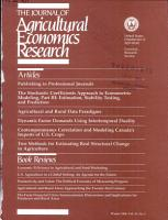 Journal of Agricultural Economics Research PDF