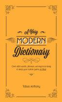 A Very Modern Dictionary