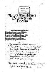 De integritate Libellus