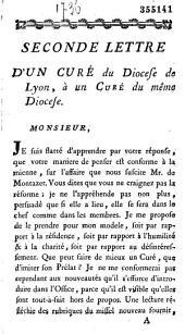 Lettre (Seconde) d'un curé du Diocese de Lyon, à un Curé du même Diocese (ce 8 Juin 1776)