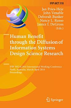 Human Benefit through the Diffusion of Information Systems Design Science Research PDF