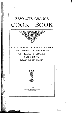 Resolute Grange Cook Book PDF