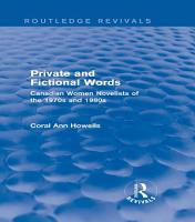 Private and Fictional Words  Routledge Revivals  PDF