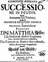 Exercitatio Academica De Successione In Feudis