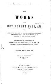 The works of the Rev. Robert Hall, A.M.: with a memoir of his life, Volume 4