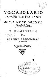 Vocabolario español e italiano