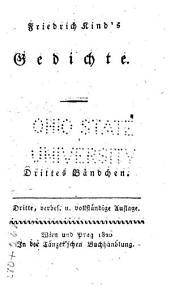 Friedrich Kind's Gedichte: Bände 3-4