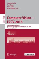 Computer Vision     ECCV 2016 PDF