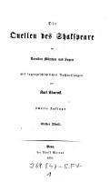 Die Quellen des Shakspeare in Novellen  M  rchen und Sagen  mit sagengeschichtlichen Nachweisungen PDF