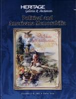 Heritage Slater Political Memorabilia and Americana Auction Catalog  619 PDF