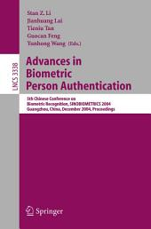 Advances in Biometric Person Authentication: 5th Chinese Conference on Biometric Recognition, SINOBIOMETRICS 2004, Guangzhou, China, December 13-14, 2004, Proceedings