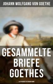 Gesammelte Briefe Goethes (3.578 Briefe in einem Band): (An Schiller, An Charlotte Stein, An Johanna Fahlmer & An seiner Frau)