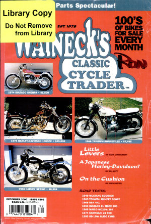 WALNECK S CLASSIC CYCLE TRADER  DECEMBER 2000 PDF
