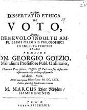 Diss. ethica de voto