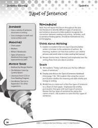 Writing Lesson Level 3 Types Of Sentences Book PDF