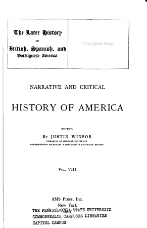 Narrative and Critical History of America  The later history of British  Spanish and Portuguese America  Appendix  Manuscript sources of the history of the United States     Printed authorities     Chronological conspectus of American history PDF