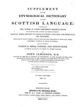 Scottish Dictionary and Supplement: In Four Volumes. Suppl. Kab-Zic, Volume 4