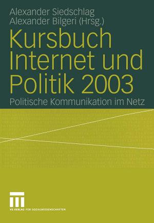 Kursbuch Internet und Politik 2003 PDF