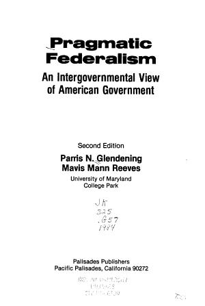 Pragmatic Federalism PDF