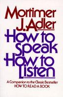 How to Speak How to Listen PDF