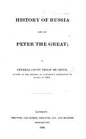 History of Russia and of Peter the Great