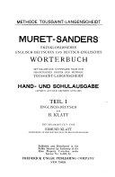 Muret Sanders enzykop  disches english deutsches und deutsch englisches W  rterbuch PDF