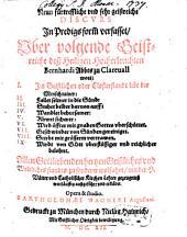 Neue fürtreffliche und sehr geistreiche Discurs über des hl. Bernhardi Wort im Geistlichen Stand lebt der Mensch rainer