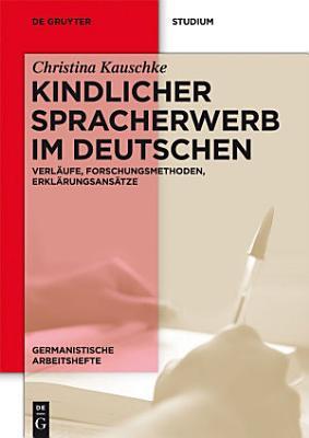 Kindlicher Spracherwerb im Deutschen PDF