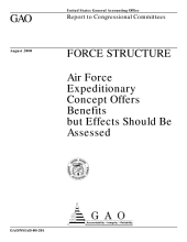 Force structure : Air Force expeditionary concept offers benefits but effects should be assessed : report to congressional committees