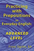 Practicing with Prepositions in Everyday English  Advanced Level PDF