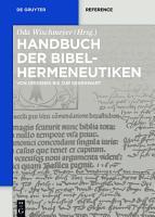 Handbuch der Bibelhermeneutiken PDF