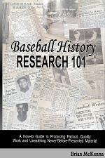 Baseball History Research 101