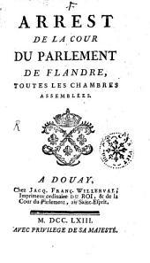 Arrest de la cour du Parlement de Flandre