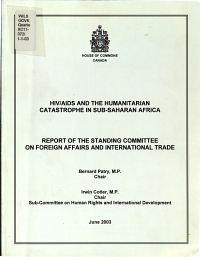 HIV AIDS and the Humanitarian Catastrophe in Sub Saharan Africa PDF