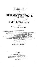 Annales de dermatologie et de syphiligraphie: Volume9
