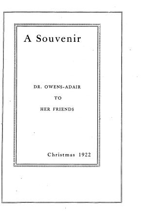 A Souvenir