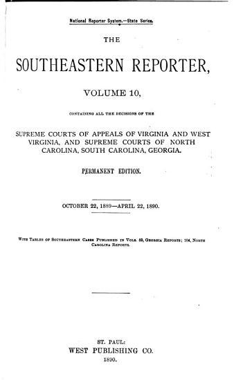 The Southeastern Reporter PDF