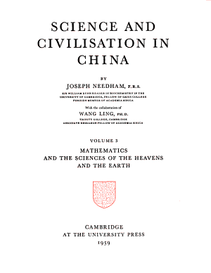 Science and Civilisation in China  Mathematics and the sciences of the heavens and the earth PDF