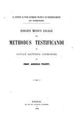 Esegesi medico legale sul Methodus testificandi di Giovan Battista Codronchi