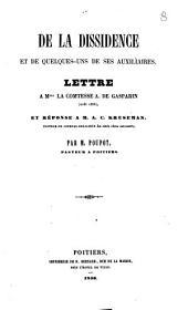 De la dissidence et de quelques-uns de ses auxiliaires: lettre à Mme la comtesse A. deGasparin (août 1856)