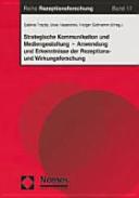 Strategische Kommunikation und Mediengestaltung PDF