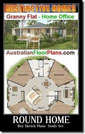 Blueprint : 170 KR House Plan - Australian Floor Plan - house plan: Buy Copyright License Pack & Sketch Plans ( Study Set )